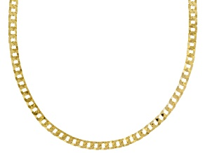Pre-Owned 18k Yellow Gold Over Sterling Silver Curb Link Chain Necklace 20 inch