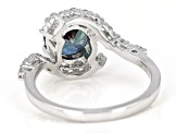 Pre-Owned Blue Lab Created Color Change Alexandrite Sterling Silver Ring 2.44ctw.