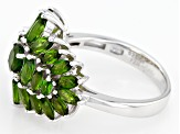 Pre-Owned Green Russian Chrome Diopside Sterling Silver Ring 3.17ctw