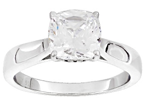 Pre-Owned White Cubic Zirconia Rhodium Over Sterling Silver Ring 2.75ctw