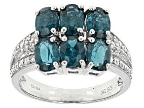 Pre-Owned Teal Chromium Kyanite Sterling Silver Ring 3.46ctw