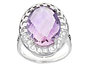 Pre-Owned Purple Amethyst Sterling Silver Ring 7.51ctw
