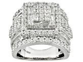 Pre-Owned Cubic Zirconia Sterling Silver Ring 5.75ctw