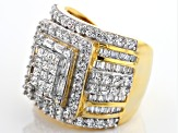 Pre-Owned Cubic Zirconia 18k Yellow Gold Over Silver Ring 5.75ctw