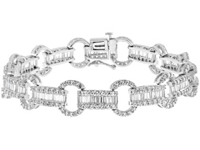 Pre-Owned Cubic Zirconia Silver Bracelet