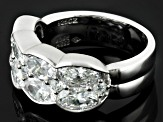Pre-Owned Cubic Zirconia Silver Ring 6.14ctw