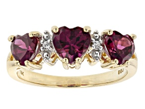 Pre-Owned Grape Color Garnet 10k Yellow Gold Ring 2.31ctw