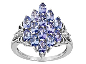 Pre-Owned Blue Tanzanite Sterling Silver Ring 3.08ctw