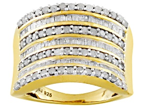 Pre-Owned 14k Yellow Gold Over Sterling Silver Diamond Ring 1.50ctw