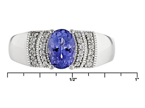 Pre-Owned Blue Tanzanite Sterling Silver Ring 1.01ctw