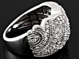 Pre-Owned Cubic Zirconia Silver Ring 1.18ctw