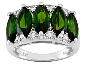 Pre-Owned Chrome Diopside Sterling Silver Ring 5.27ctw