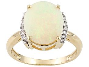 Pre-Owned Ethiopian Opal 10k Yellow Gold Ring 2.06ctw