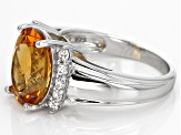 Pre-Owned Yellow Citrine Sterling Silver Ring 4.07ctw