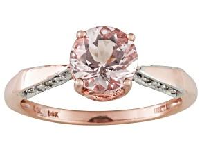 Pre-Owned Pink Morganite 14k Rose Gold Ring 1.05ctw