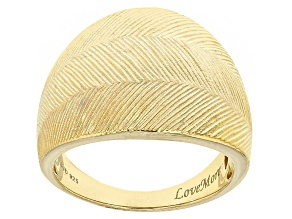 Pre-Owned 18k Yellow Gold Over Sterling Silver Ring