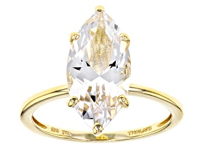 Pre-Owned White Danburite 10k Yellow Gold Ring 2.35ct