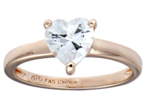 Pre-Owned Bella Luce® 1.92ct Heart Shape Diamond Simulant 18k Rose Gold Over Silver Ring