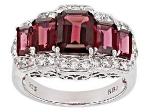 Pre-Owned Purple Rhodolite Sterling Silver Ring 4.44ctw