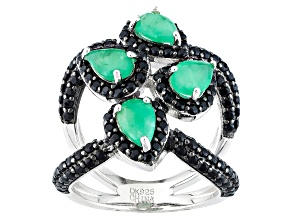 Pre-Owned Green Emerald Sterling Silver Ring 2.73ctw