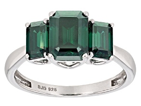 Pre-Owned Green Moissanite Platineve Ring 2.91ctw D.E.W
