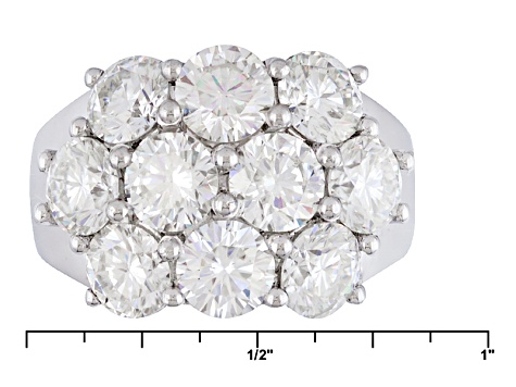 Pre-Owned Moissanite Platineve Ring 5.00ctw D.E.W