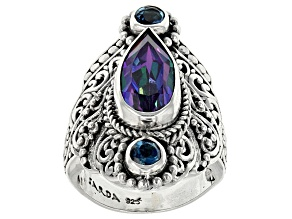 Pre-Owned Sweet Harp™ Mystic Quartz® Silver Ring 3.66ctw