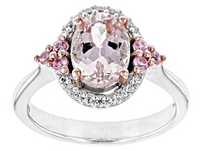 Pre-Owned Pink Morganite Sterling Silver Ring 1.05ctw
