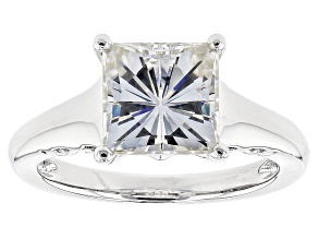 Pre-Owned Moissanite Platineve Ring 3.10ct D.E.W