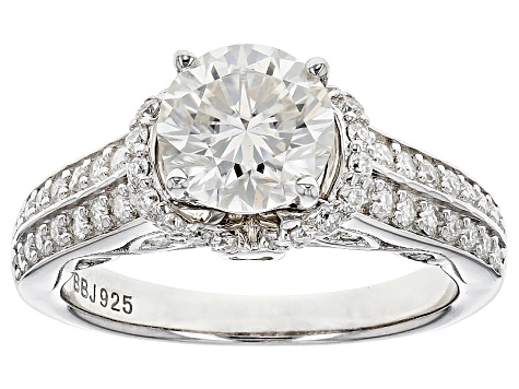 Pre-Owned Moissanite Platineve Ring 2.28ctw D.E.W