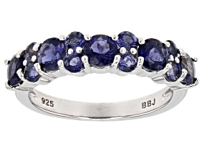 Pre-Owned Purple Iolite Sterling Silver Ring 1.16ctw