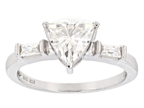 Pre-Owned Moissanite Platineve Ring 1.48ctw D.E.W
