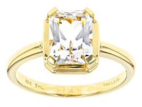 Pre-Owned White Danburite 10k Yellow Gold Solitaire Ring 1.35ct