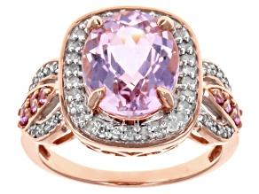 Pre-Owned Pink Kunzite 10k Rose Gold Ring 4.14ctw.