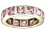 Pre-Owned Bella Luce® 5.85ctw Pink Diamond Simulant 18k Yellow Gold Over Silver Ring