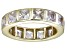 Pre-Owned Bella Luce® 5.85ctw Princess Diamond Simulant 18k Yellow Gold Over Silver Ring