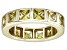 Pre-Owned Bella Luce® 5.85ctw Yellow Diamond Simulant 18k Yellow Gold Over Silver Ring