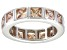 Pre-Owned Bella Luce® 5.85ctw Champagne Diamond Simulant Rhodium Over Silver Ring