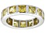 Pre-Owned Bella Luce® 5.85ctw Princess Yellow Diamond Simulant Rhodium Over Silver Ring