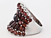 Pre-Owned Red Garnet Sterling Silver Ring 6.94ctw.