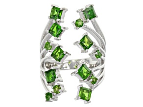 Pre-Owned Green Russian Chrome Diopside Sterling Silver Ring 2.41ctw