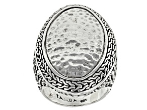 Pre-Owned Sterling Silver Hammered Ring