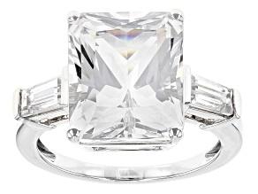 Pre-Owned White Danburite 10k White Gold Ring 5.43ctw