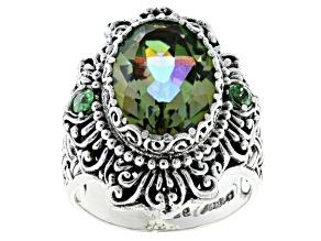 Pre-Owned Bonjour™ Mystic Quartz® Silver Ring 4.78ctw