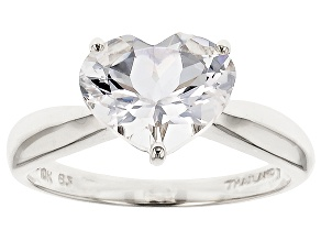 Pre-Owned White Danburite 10k White Gold Ring 2.05ct