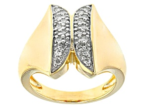 Pre-Owned Moissanite 14k Yellow Gold Over Silver Ring .40ctw DEW