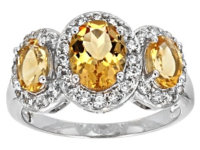 Pre-Owned Yellow Citrine Sterling Silver Ring 2.24ctw