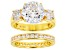 Pre-Owned White Cubic Zirconia 18k Yellow Gold Over Sterling Silver Ring 9.70ctw