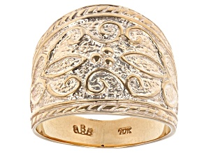 Pre-Owned 10k Yellow Gold Byzantine Style Band Ring