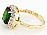 Pre-Owned Green Chrome Diopside 14k Yellow Gold Ring 2.79ctw